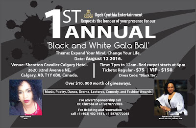 Ogeh Cynthia Entertainment Set To Hold 1st Annual Most Outstanding Black and White Gala Ball with AMARA VAN LARE