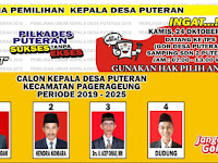 Download Contoh Spanduk Sosialiasi Calon Kepala Desa Pilkades 2019 Format CDR