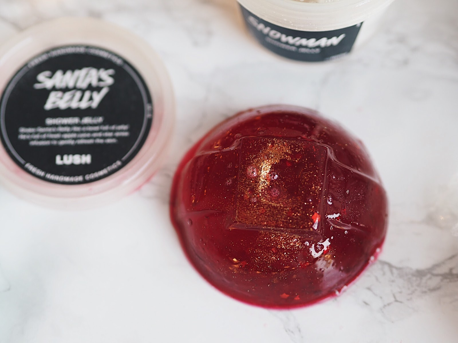 lush christmas 2017 santas belly shower jelly