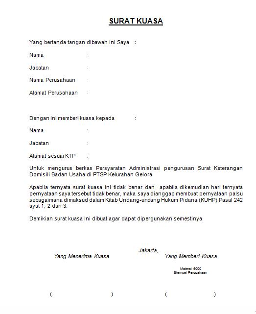 Contoh Surat Kuasa Perpanjang Stnk - Bca Contoh