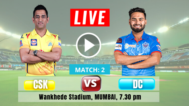 Chennai SuperKings vs vs Delhi Capitiols , 2nd Match IPL 2021, CSK is batting first , Check the playing XI