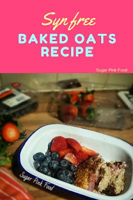 Slimming world baked oats recipe