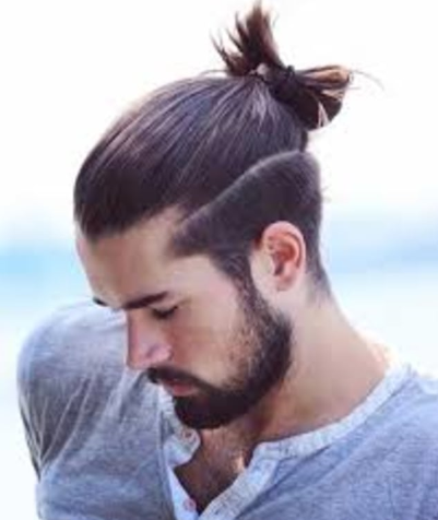 man bun undercut hairstyle