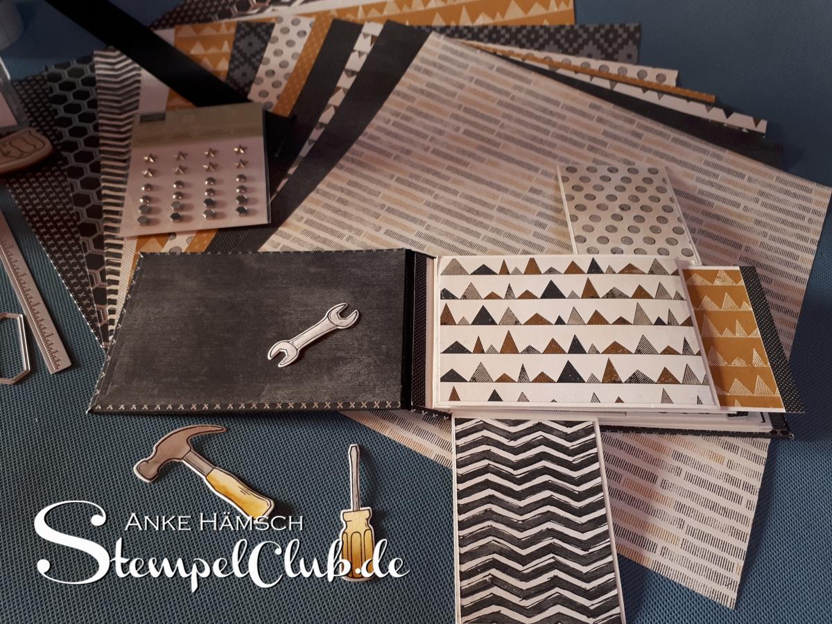 Homemade Stampin Project, der Workshop für zu Hause ist ab sofort bestellbar. Materialpaket inklusive Anleitung,  Bastelset, Bastelkit, Kreativkit, Minialbum