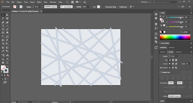 Line Web Background in Adobe Illustrator