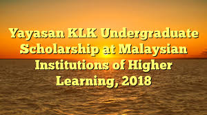Yayasan KLK Scholarship
