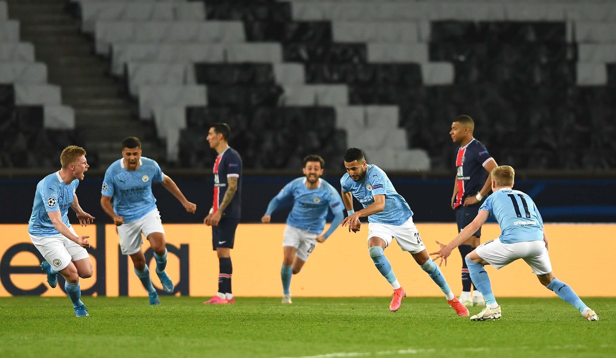 El PSG perdió ante Manchester City en la semifinal de ida de la Champions