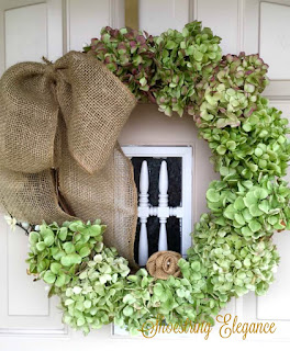 DIY Fall Hydrangea Wreath