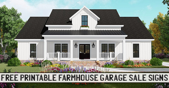 Free Farmhouse printable garage sale signs, price tags, table signs