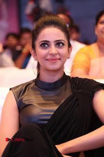 Actress Rakul Preet Singh Stills in Black Saree at Rayudu Movie Audio Launch  0157.JPG