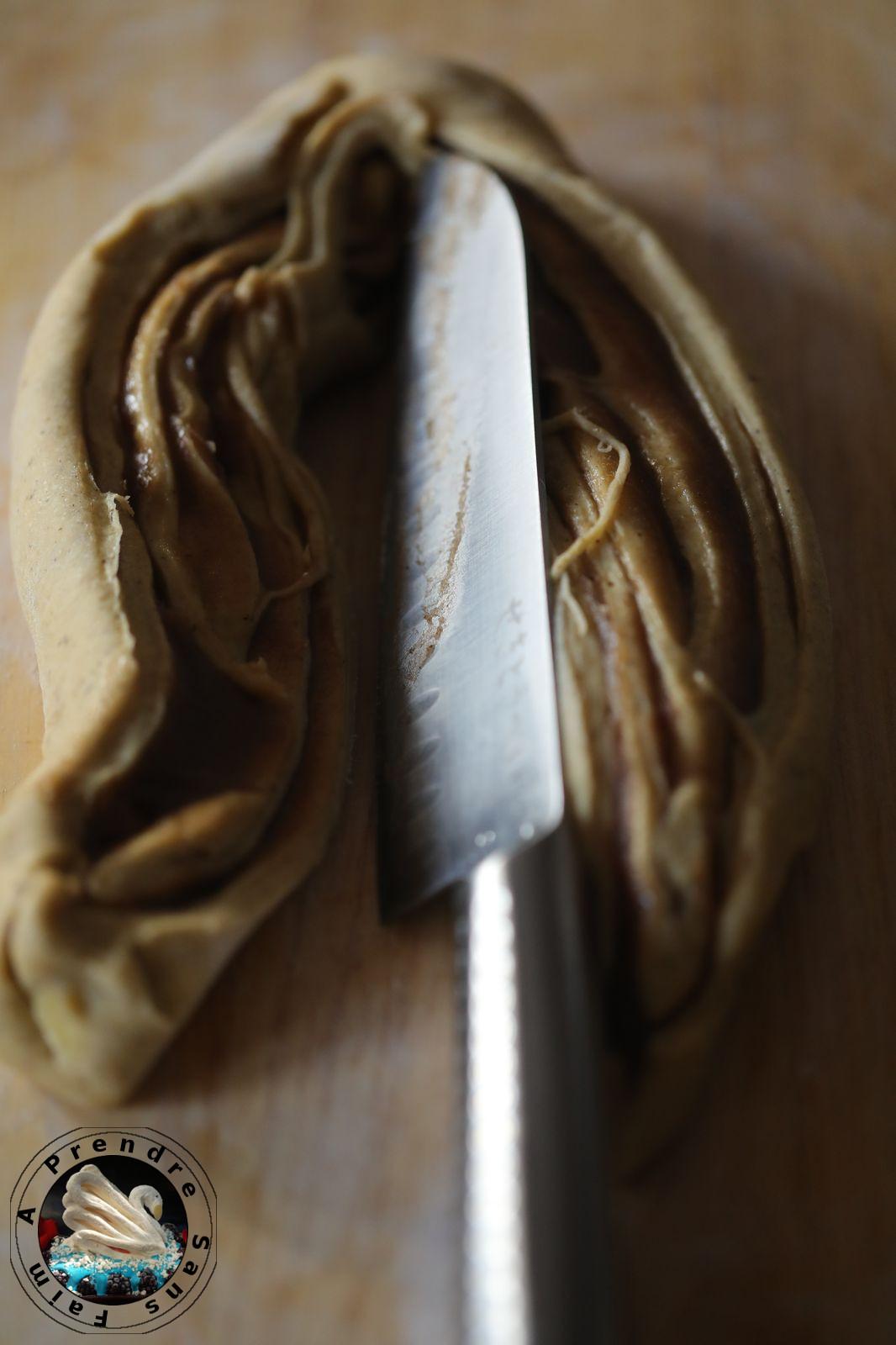 Brioche tressée marbrée en cake (pas à pas en photos)