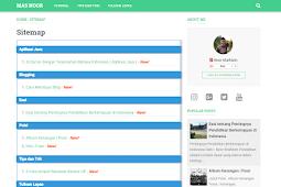 Cara Membuat Halaman Sitemap Responsive Sederhana di Blogger