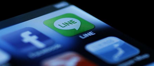 Aplikasi line smartphone