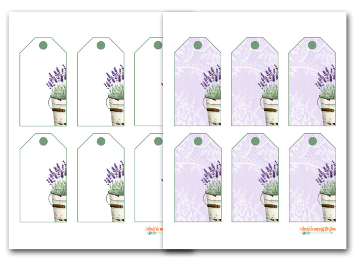 Lavender Labels to Print