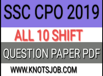 SSC CPO 2018 Question Paper with Answer Keys PDF