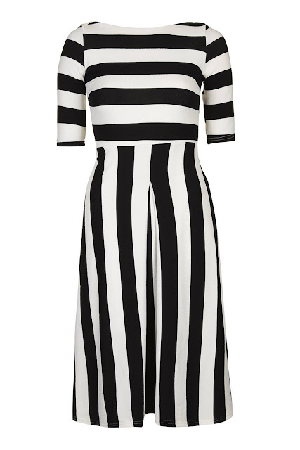 tfnc black stripe dress,