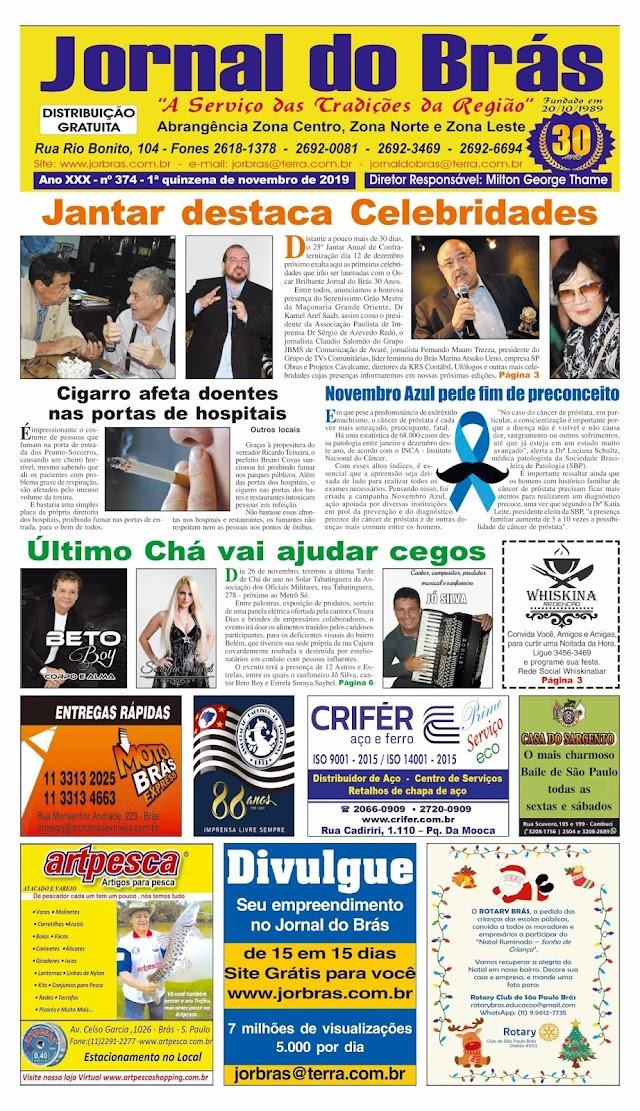 Destaques da Ed. 374 - Jornal do Brás