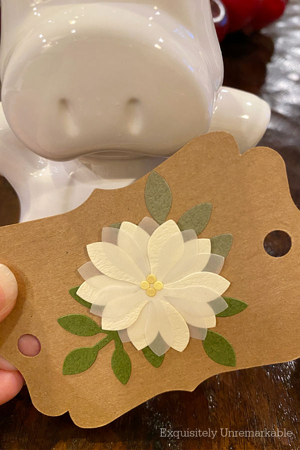 Small Floral Banner Tag