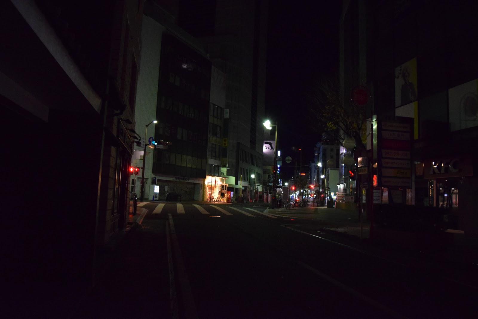 Shizuoka city after dark