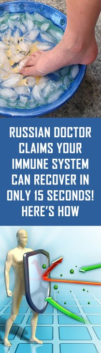 Russian Doctor Claims Your Immune System Can Recover in Only 15 Seconds! Here's How