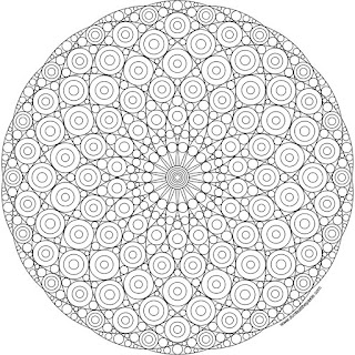 Circles rotational symmetry mandala to print and color available in jpg or transparent png