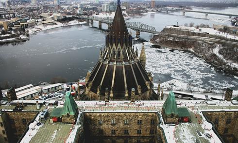 Peace Tower Parliament View Ottawa