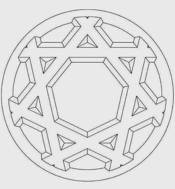 22 hexagram 3d beginner mandala coloring pages for Mandala coloring pages for beginners