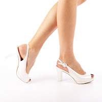 Sandale dama Makara albe
