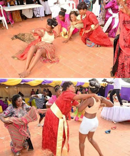 Bride Runs Mad, Strips Half Naked At Her Wedding After Being 'Attacked By Witches' (Photos)