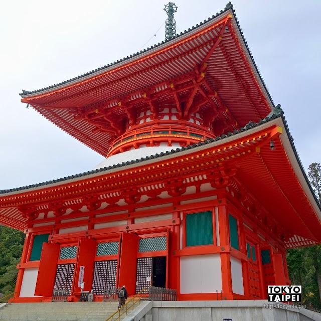 【壇上伽藍】深山晴空下朱紅寶塔 高野山裡最神聖的曼荼羅道場