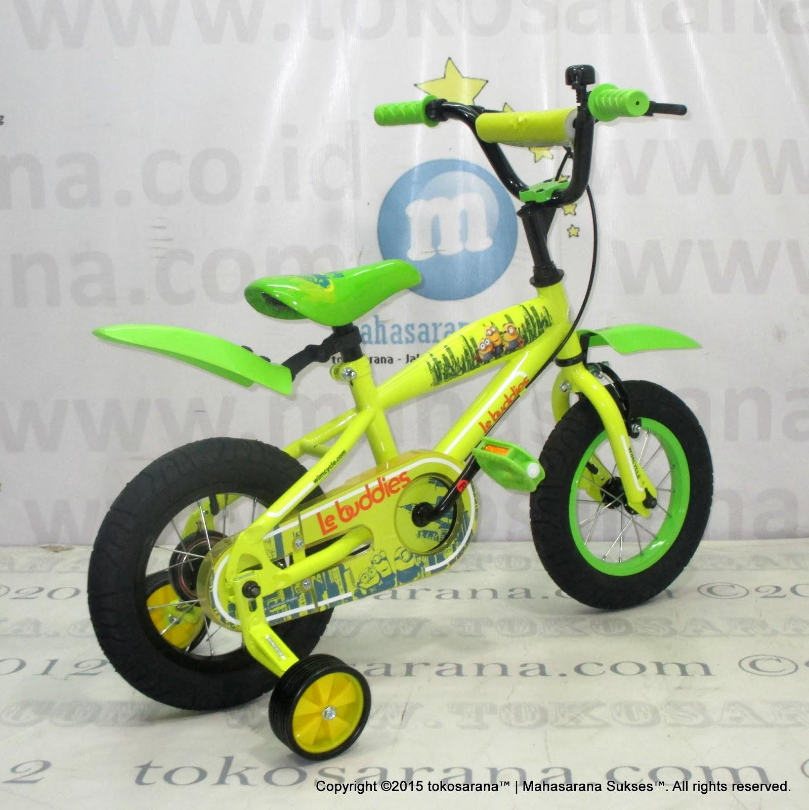 Sepeda Anak Wimcycle Minions 12 Inci Lisensi News Untuk