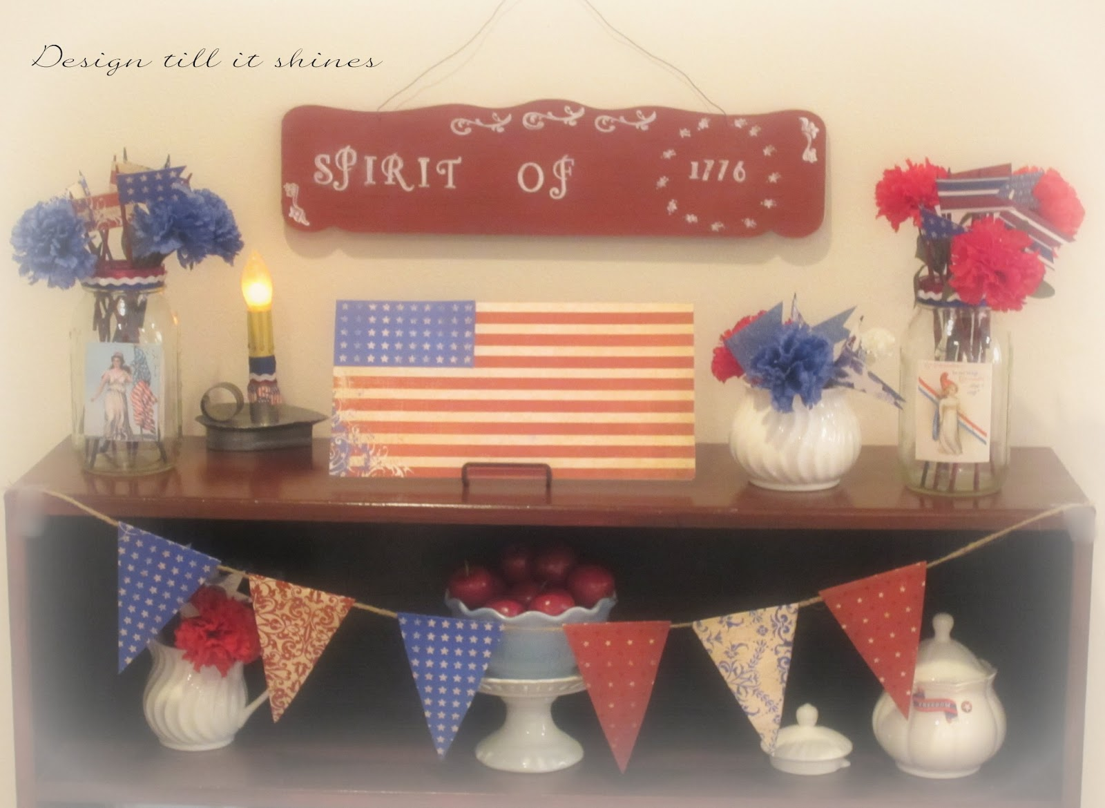 Design Till It Shines Vintage 4th Of July