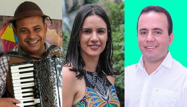 Dayse Juliana, Felipe de Lado e Júnior Padre, tem registro de candidatura aceito pela justiça eleitoral
