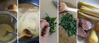 Zubereitung Spargel mit Schweinefilet und Kartoffeln