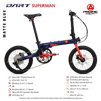 Sepeda Lipat Pacific Dart Superman folding bike