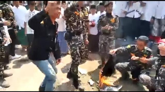 Pembakar Bendera Tauhid Di Garut Ternyata Seorang Santri