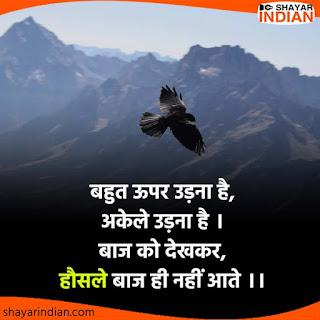 Updar Udna, Akele, Baaz : Success Attitude Status in Hindi