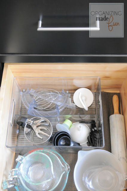 Organized baking drawer :: OrganizingMadeFun.com