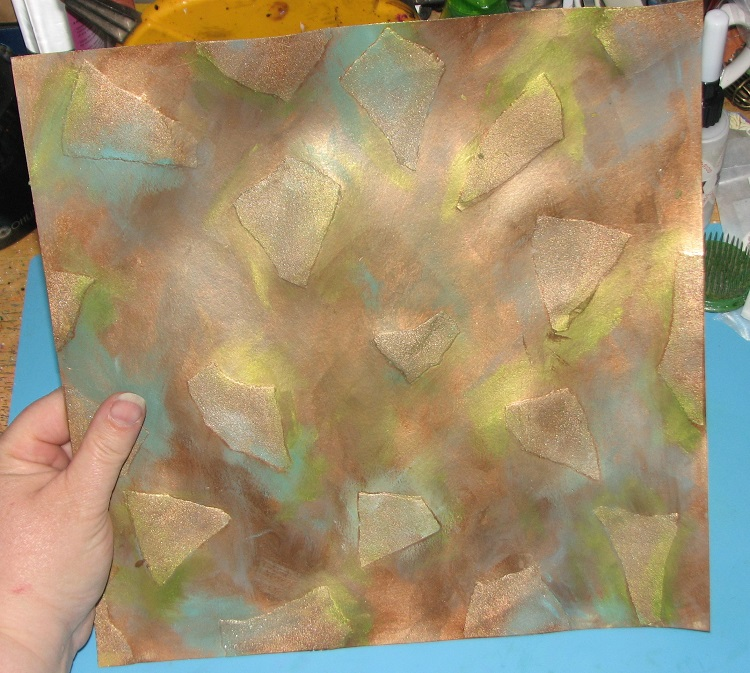 Ink Stains: Faux Sandpaper Patina