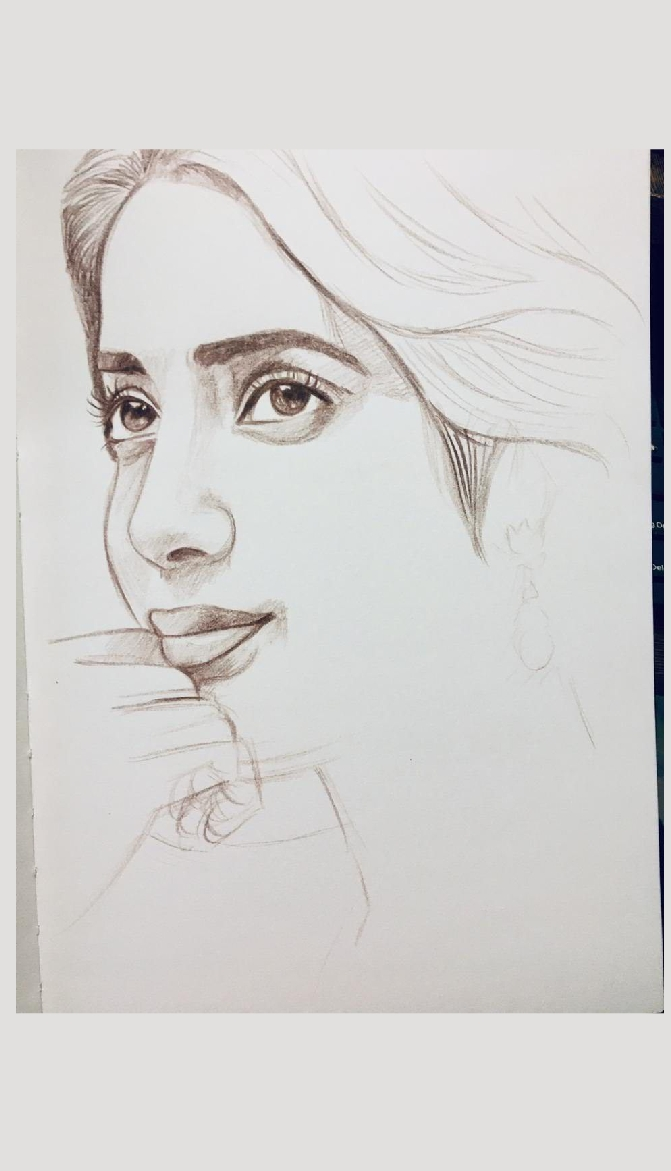 Janhvi Kapoor - Pencil Portrait