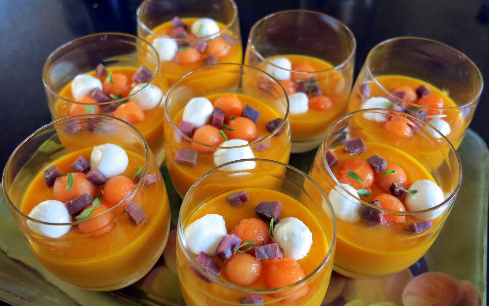 ambiances et gourmandises de mj soupe de melon et carottes au gingembre. Black Bedroom Furniture Sets. Home Design Ideas