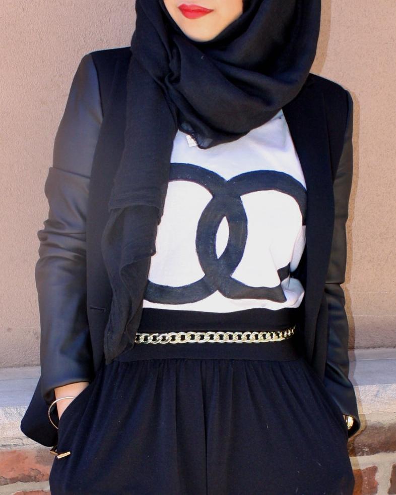 876303a7de59 Leather Sleeved Blazer  Zara    Harem Pants   Neon Pumps  JCPenney