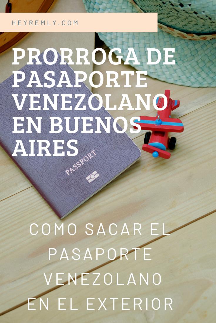 PRORROGA DE PASAPORTE VENEZOLANO   EN BUENOS AIRES