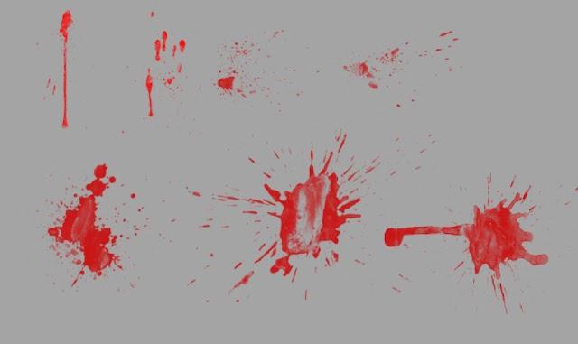 فرش فوتوشوب لأشكال الدماء المختلفة