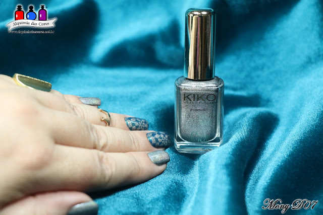 Kiko, 400 Steel Grey, holographic, Holográfico, Holo, Cinza, Grafite, 32 Peacock Green, Smart Nail Lacquer, Teal, Shimmer, Fast & Shiny, Base and Top Coat, born Pretty BP-L050, Konad, carimbo transparente,