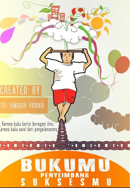 Poster Pendidikan Gambar Buku