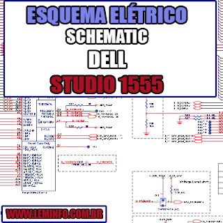 Esquema Elétrico Manual de Serviço Notebook Laptop Placa Mãe Dell Studio 1555 Schematic Service Manual Diagram Laptop Motherboard Dell Studio 1555 Esquematico Manual de Servicio Diagrama Electrico Portátil Placa Madre Dell Studio 1555