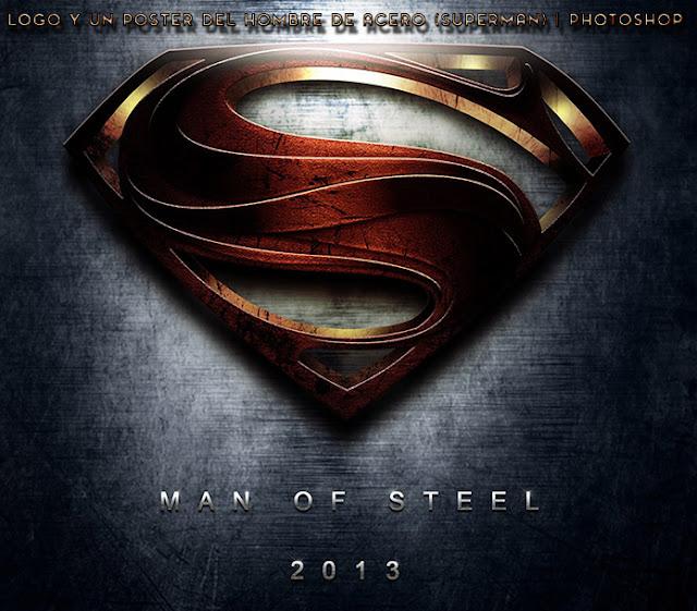 [TUTORIAL ]Logo y un Poster del Hombre de Acero (Superman)