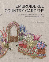 Cover of book 'Embroidered Country Gardens' by Lorna Bateman