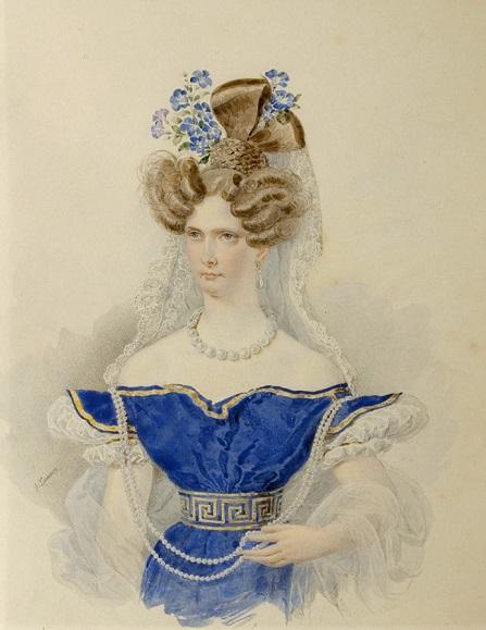 Alexander Pavlovich Bryullov, imagenes chidas de arte inspirador en acuarela, emperatriz, reina,